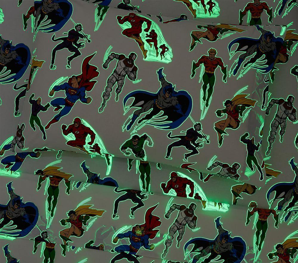 Glow-in-the-Dark Justice League™ Sheet Set