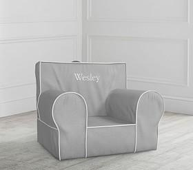 Grey With White Piping Anywhere Chair®