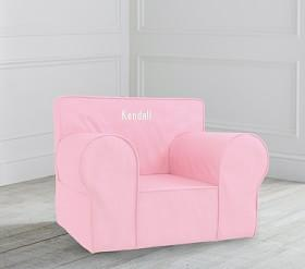Oversized Light Pink Twill Anywhere Chair ®