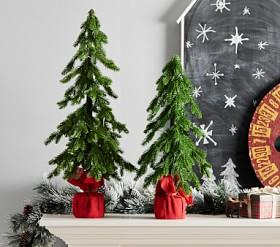 Light-Up Faux Trees