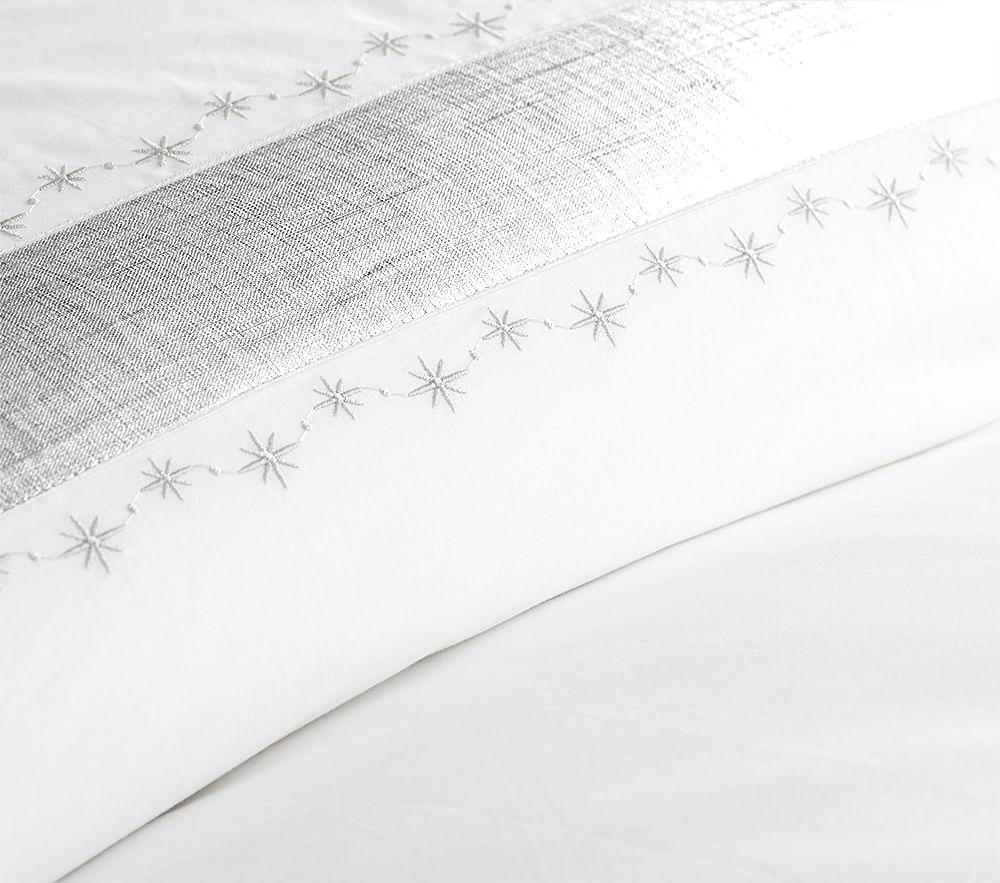 Metallic Star Border Quilt Cover
