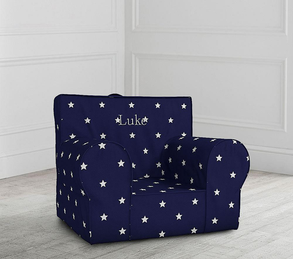 Navy Glow In The Dark Anywhere Chair Pottery Barn Kids Au