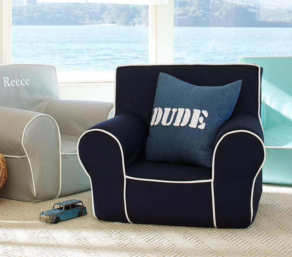 Navy With White Piping Anywhere Chair®