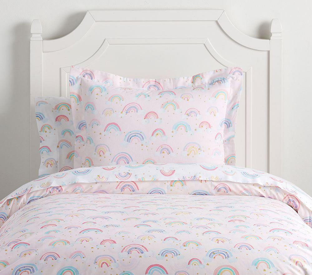 Organic Rainbow Cloud Quilt Cover