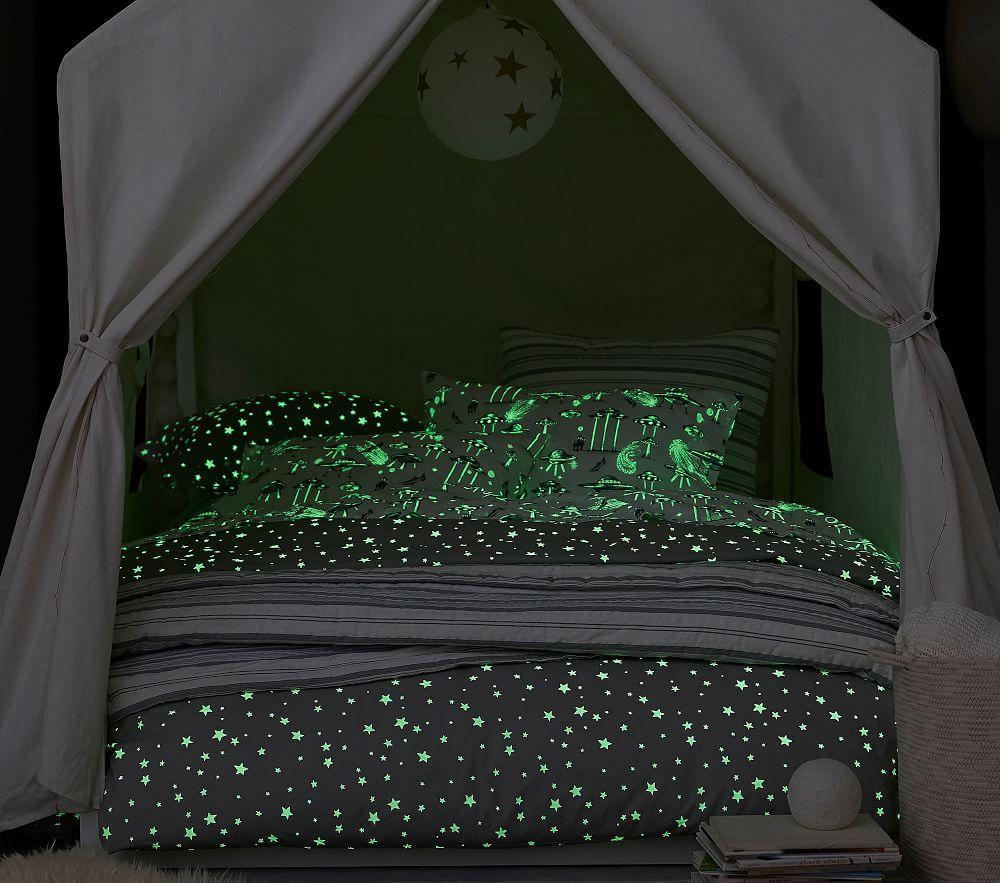 Organic Shining Star Glow-in-the-Dark Sheet Set