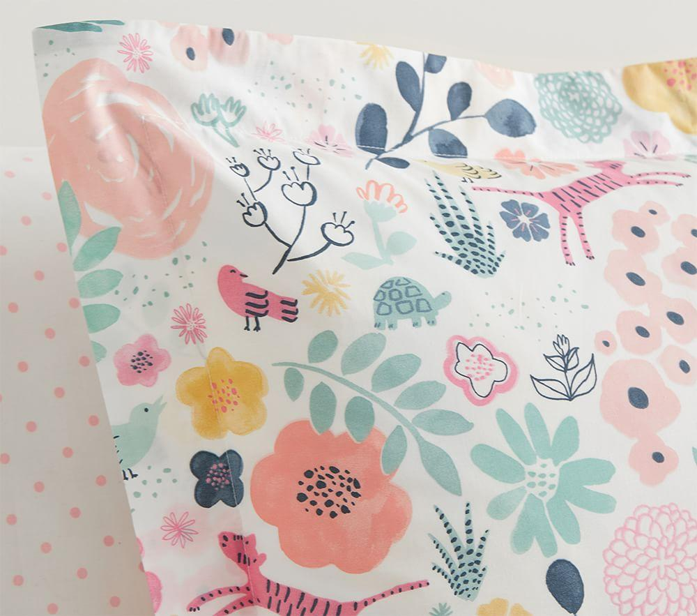 Organic Sasha's Garden Quilt Cover