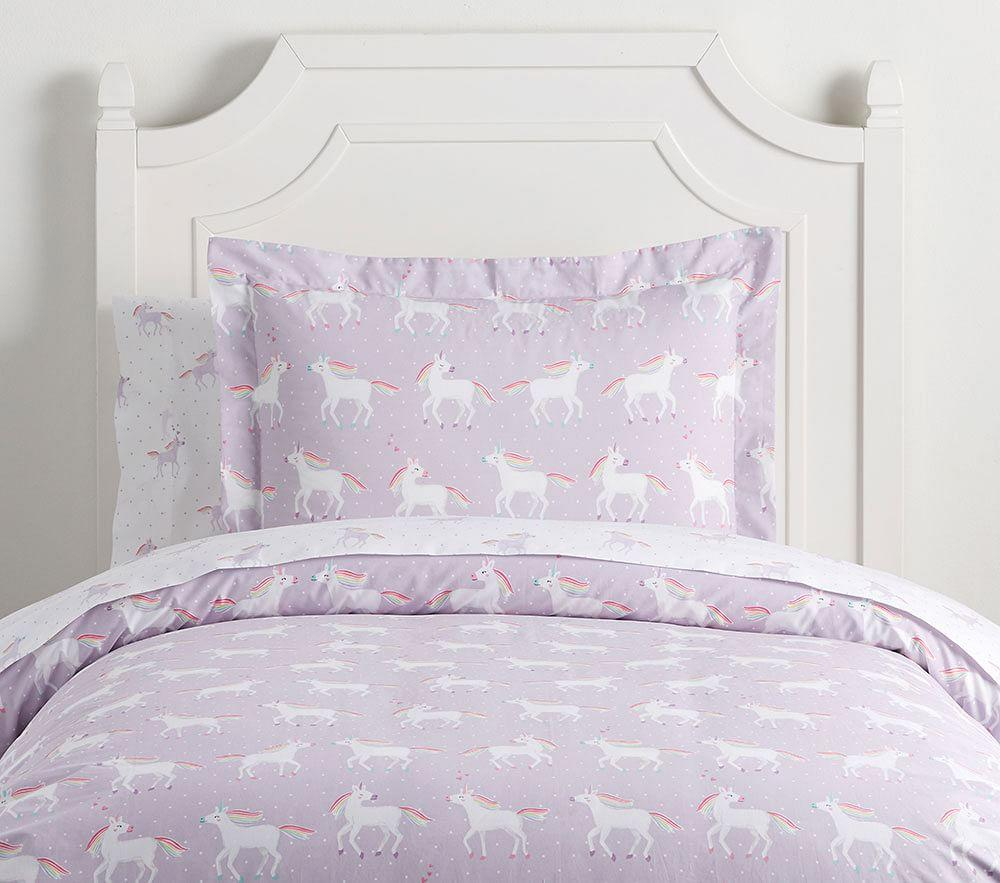 Unicorn Rainbow Quilt Cover