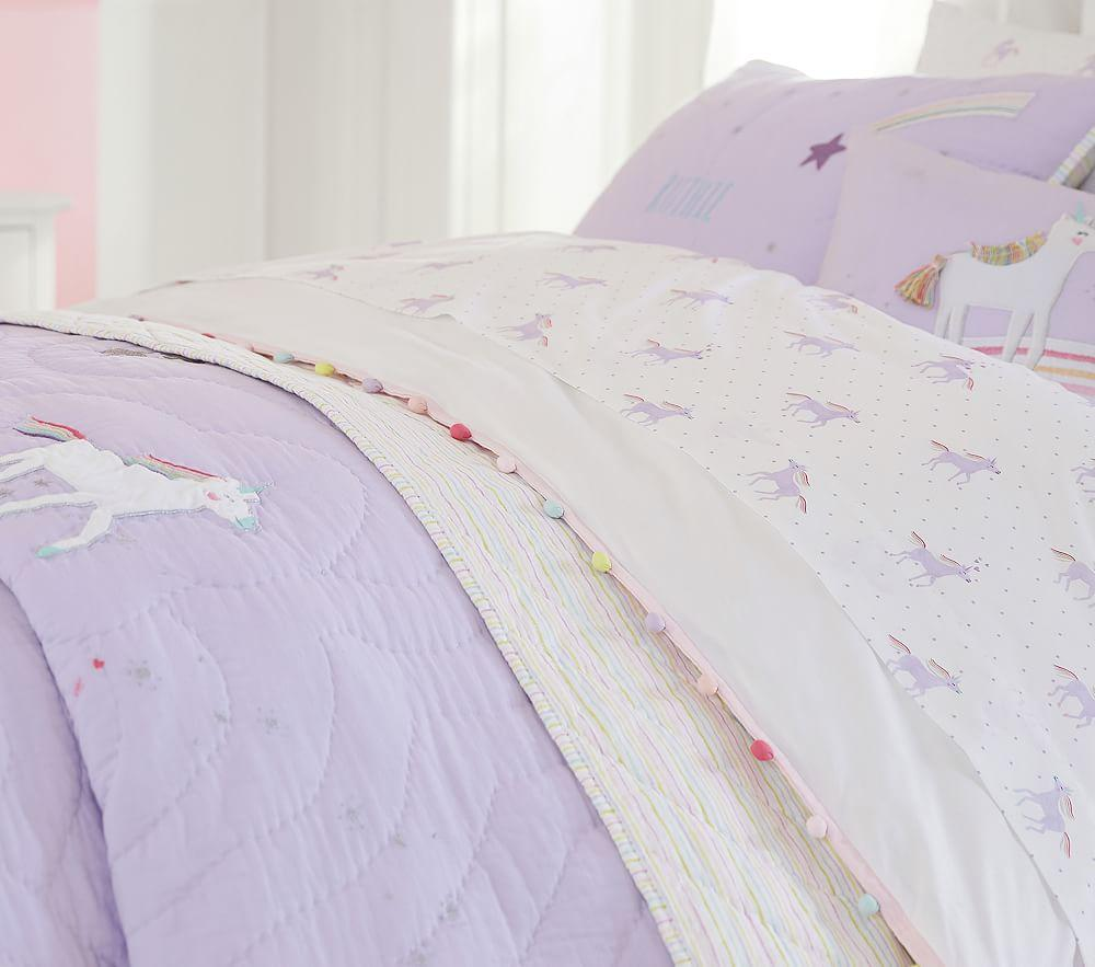 Organic Unicorn Rainbow Sheet Set