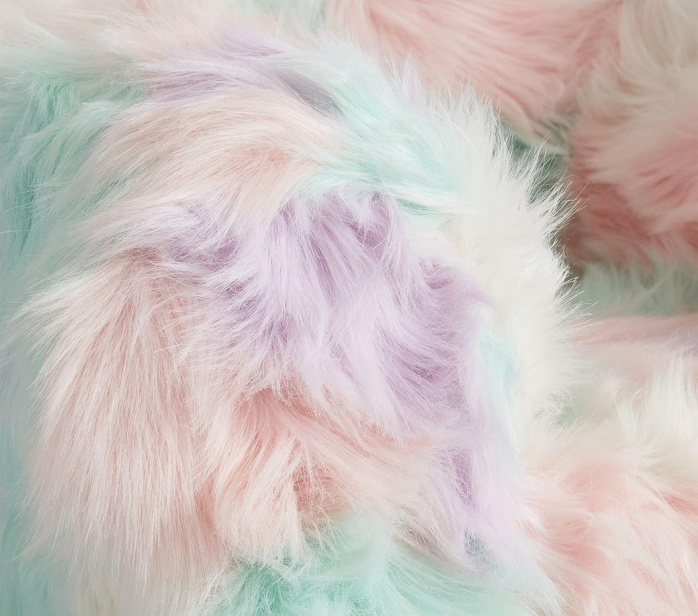 Rainbow Faux Fur Anywhere Chair®