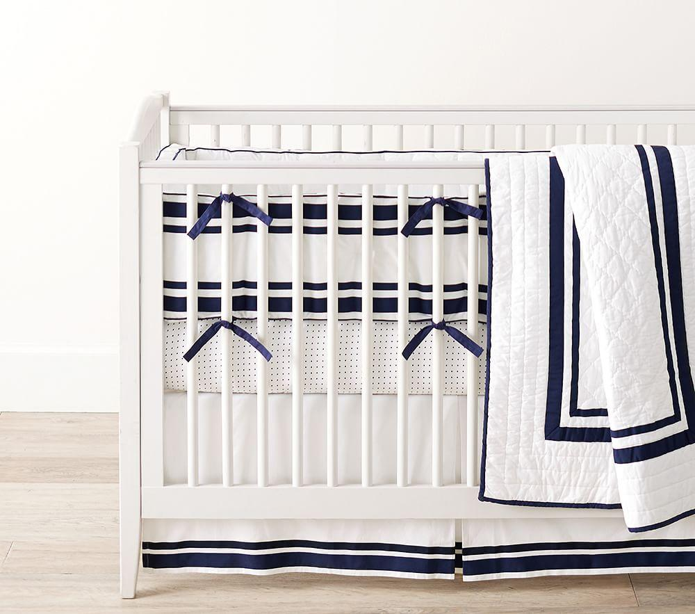 Harper Nursery Bedding Collection - Navy