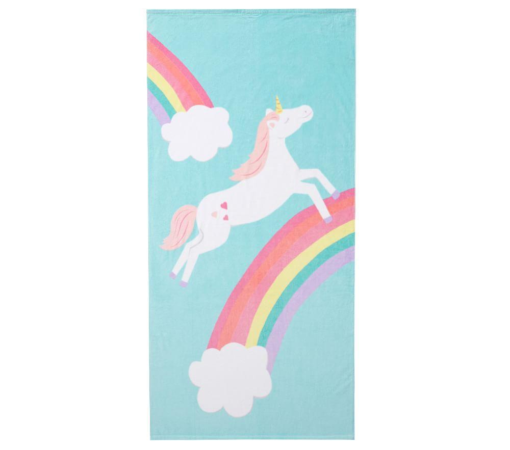 Unicorn Rainbow Beach Towel