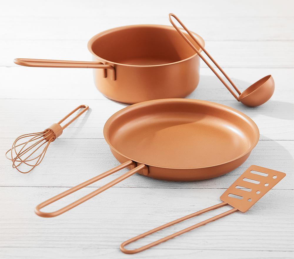 Copper Pots and Pans Set