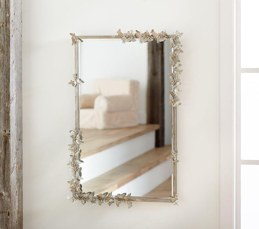 Monique Lhuillier Butterfly Rectangle Mirror