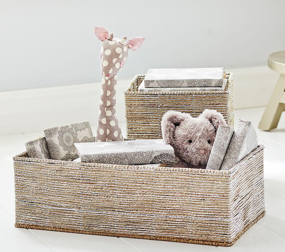 Silver Rope Storage Pottery Barn Kids