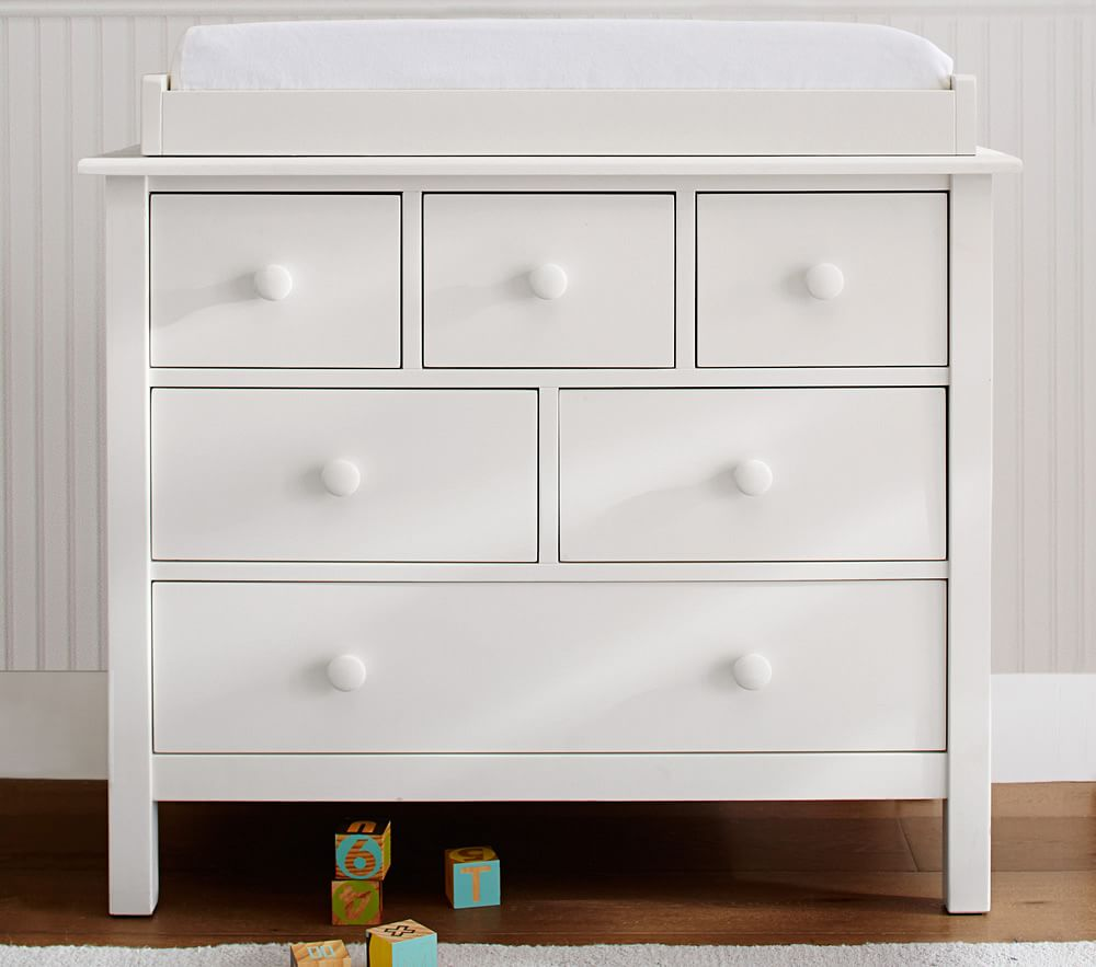 Kendall Dresser Amp Change Table Topper Simply White