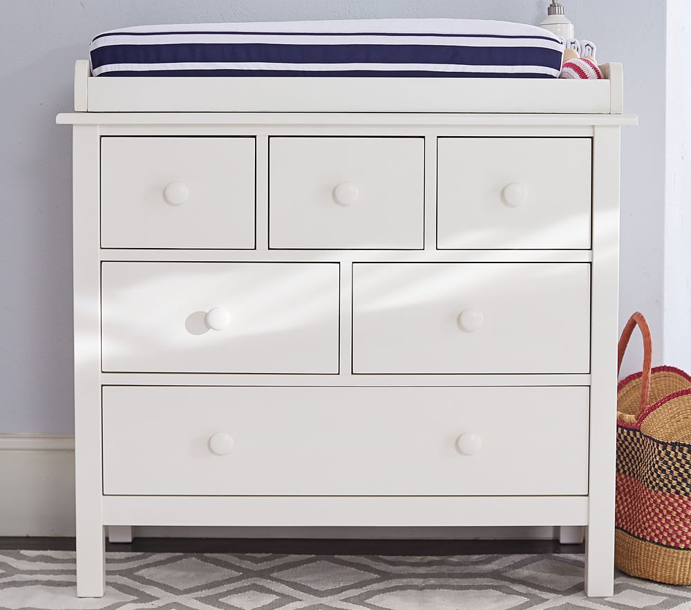 Kendall Dresser & Change Table Topper - Simply White
