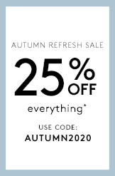 25% off Everything! Use Code: AUTUMN2020