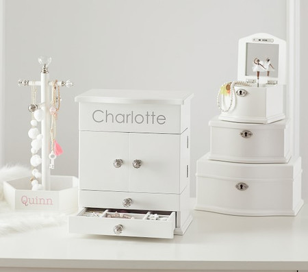 Abigail Jewellery Box Collection - White