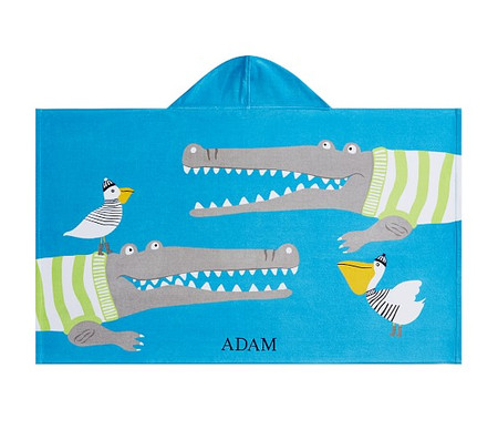 Alligator Kids Beach Hooded Towel