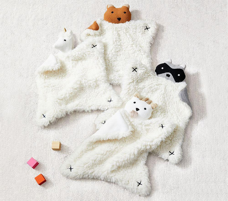 West Elm X Pbk Plush Animal Security Blankets Pottery