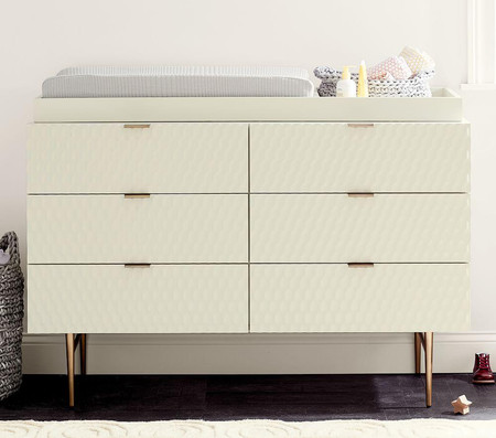 west elm x pbk Audrey Extra-Wide Dresser & Change Table Topper