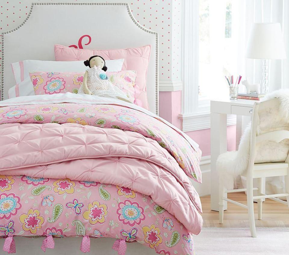 Audrey Comforter Light Pink Pottery Barn Kids Au