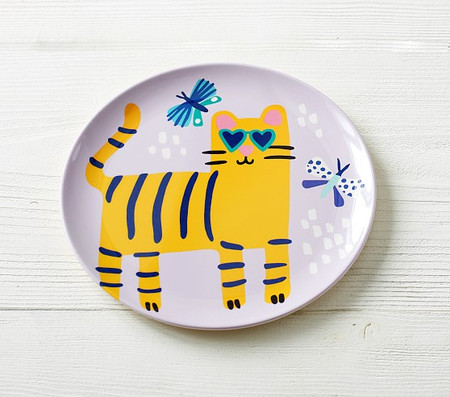 Bamboo Cool Cat Plate