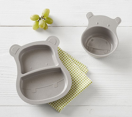 Hippo Shaped Astrik Feeding Set