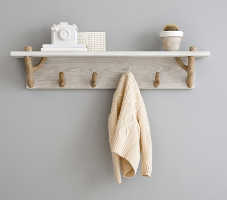 Birch Shelf with Pegs