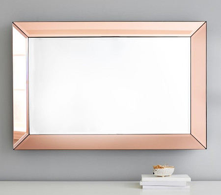 Blush Beveled Glass Rectangle Mirror