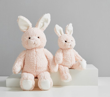 Blush Long Ear Metallic Bunny Plush Toy