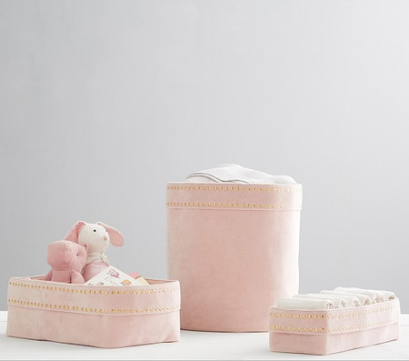 Blush Velvet Nursery Storage