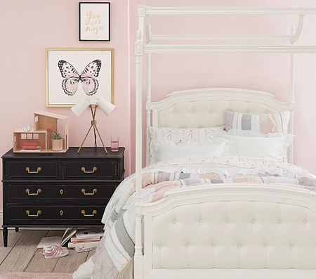Blythe Tufted Canopy Bed