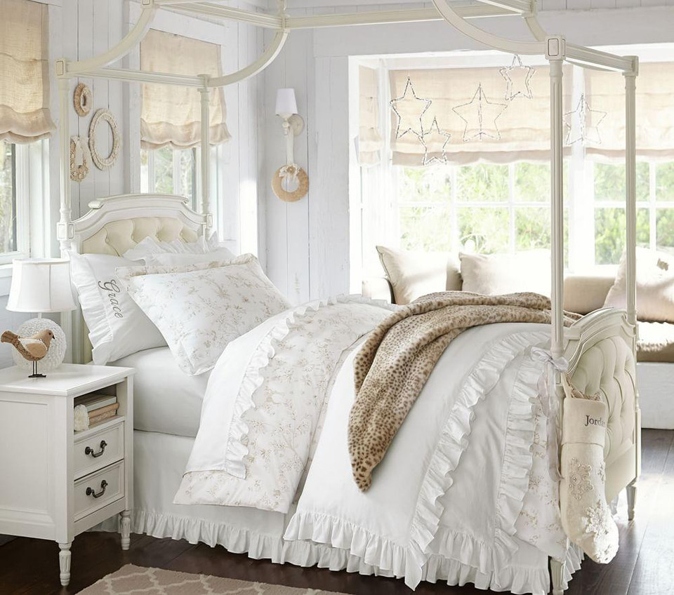 Blythe Tufted Canopy Bed French White Pottery Barn Kids Au