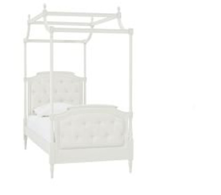 Blythe Tufted Canopy Bed Conversion Kit- Vintage Simply White