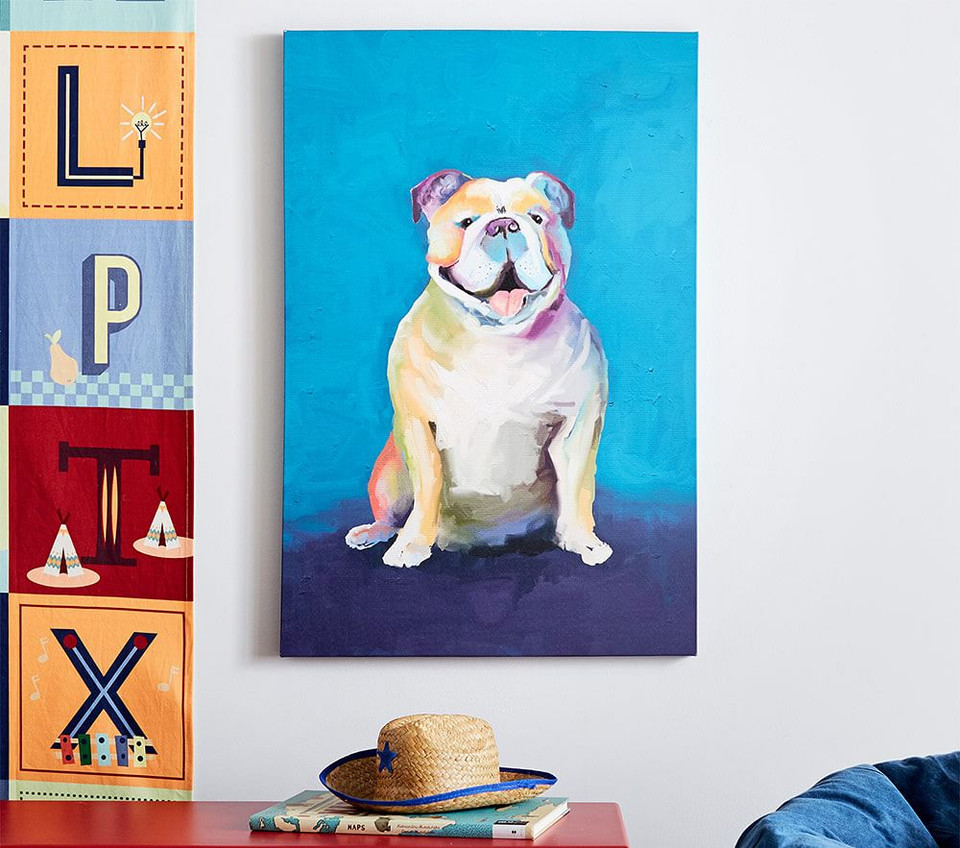 Bulldog Canvas Art