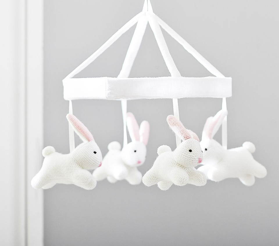 Bunny Knit Cot Mobile