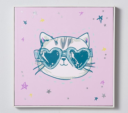 Cool Cat Stretched Canvas Art