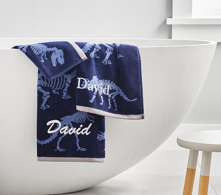 Dino Bones Bath Towel Collection