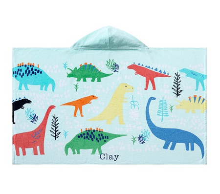 Dinosaur Kids Beach Hooded Towel