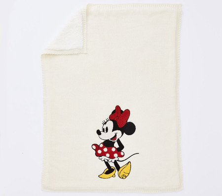 Disney Mickey and Minnie Mouse Heirloom Baby Blanket