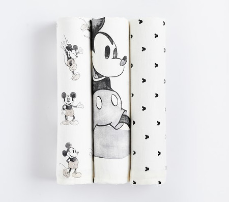 Disney Mickey and Minnie Mouse Organic Swaddle Set