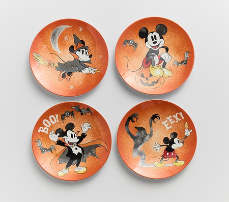 Disney Mickey Mouse Halloween Plates