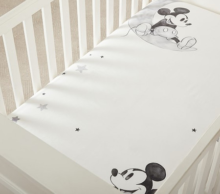 Disney Mickey Mouse Organic Picture Perfect Cot Fitted Sheet