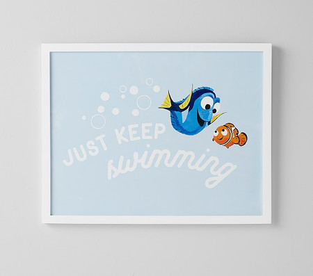 Disney and Pixar Finding Nemo Just Keep Swimming Wall Art