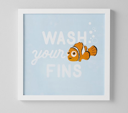 Disney and Pixar Finding Nemo Wash Your Fins Bath Wall Art