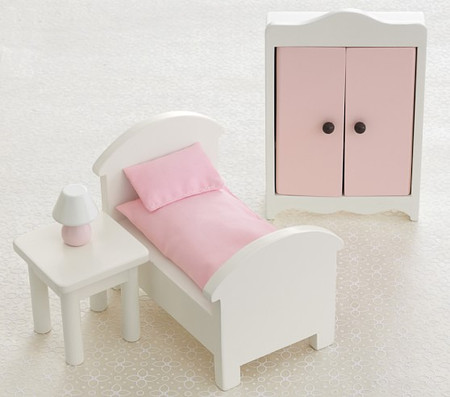 Dollhouse Bedroom Accessory Set