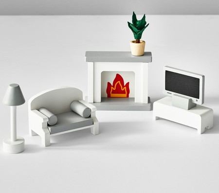 Dollhouse Living Room Accessory Set