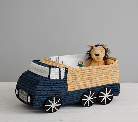 Dump Truck Shaped Woven Cotton Storage Basket