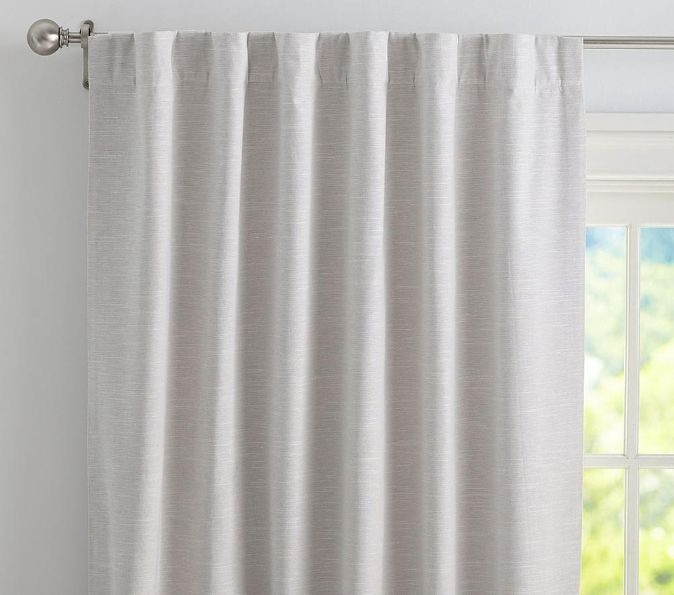 Evelyn Linen Blend Blackout Curtain
